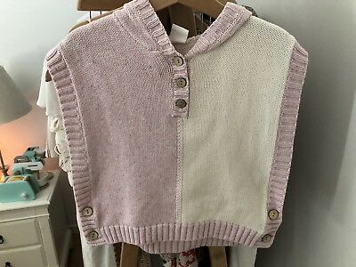 Baby Girls Size 0-1 SEED knitted Poncho