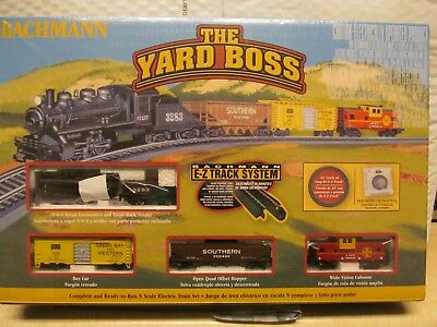 "Bachmann N Scale ""the Yard Boss"" Electric Train Set W/e-Z Track System"