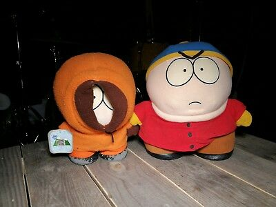 """ERIC Cartman and KENNY PLUSH DOLL (8"""") SOUTH PARK COMEDY CENTRAL FUN 4 ALL 1998"""