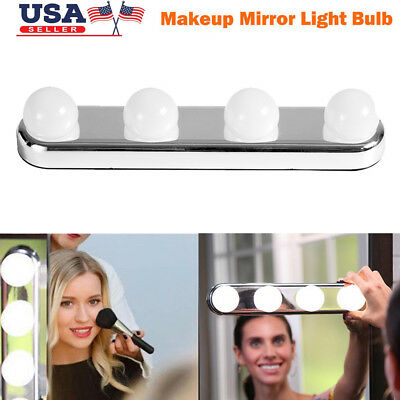 Hollywood Vanity LED Light Kit for Makeup Mirror with 4 LED Bulbs Super Bright