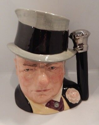 """Royal Doulton Large Character Toby Jug """"w.c. Fields"""" D6674 England 7 1/2"""""""