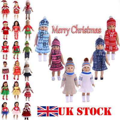 Doll Clothes Dress Outfit Winter Coat Set For 18'' Girl Doll UK