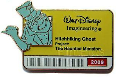 Disney Pin 70874 WDI ID Badge 2009 Haunted Mansion Hitchhiking Phineas LE 300 #