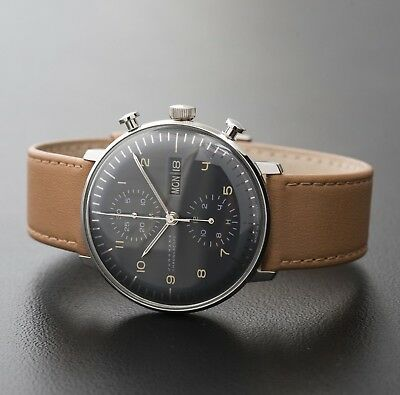 Junghans Max Bill Automatic Chronoscope Chronograph Day Date Grey 027/4501.01