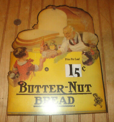 "BUTTERNUT BREAD Grocery Store Advertising Sign (Reproduction) 10.5"" X 13.5"""