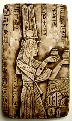 """Ancient Egyptian Wall Sculpture 16"""" Queen Isis"""