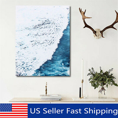 Nordic Minimalist Sea Wave Poster Modern Print Home Wall Decor Canvas Painting