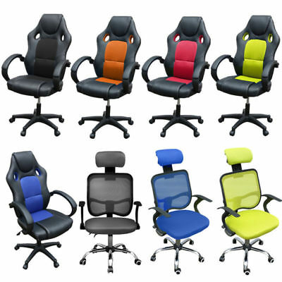 Adjustable Sports Racing Gaming Chair Home Office Executive Computer Armchair UK