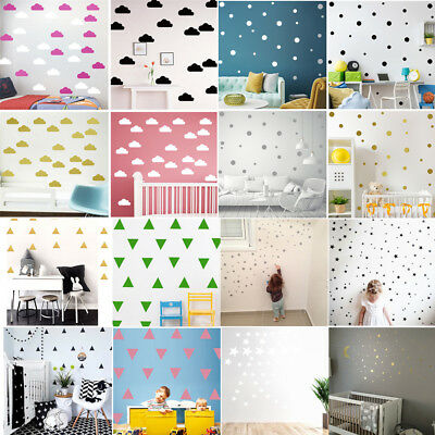 Lovely Stars Clouds Wall Stickers Decal Art Kids Baby Nursery Bedroom Home Decor