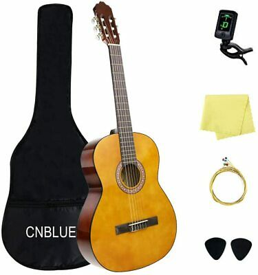 Classical Guitar 3/4 Size 36 inch for Beginner Kid Childs Guitar With Tuner Bag