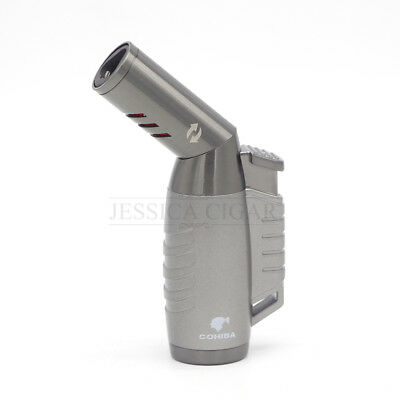 Cohiba Metal Gun 3 Torch Jet Flame Refillable Cigar Cigarette lighter Butane