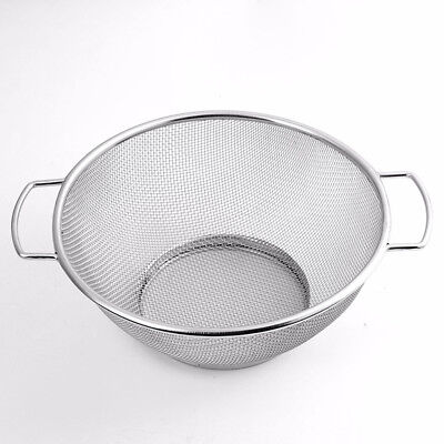 STAINLESS STEEL MESH SIEVE W/ DUAL WIRE HANDLE STRAINER Draining Sifter New