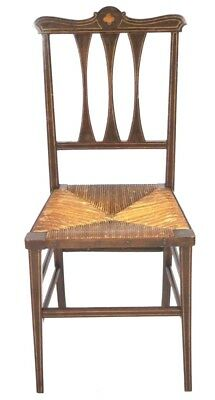 Antique Victorian Inlaid Mahogany Dining Chair - FREE Shipping [PL4331]