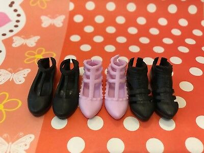 Doll shoes ~ 3PAIRS Mattel Curvy Barbie Fashion Casual Flat Shoes #S2024 NEW