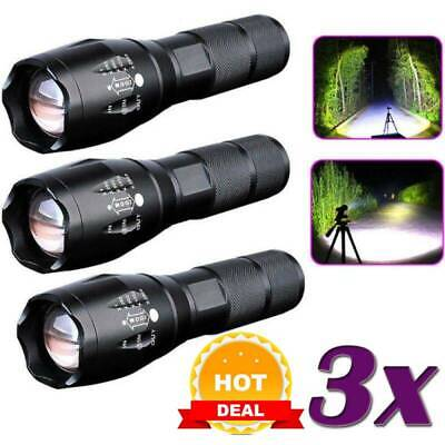 Police 20000LM T6 LED 18650 Super Bright Zoom Flashlight Powerful Lamp Torch UK