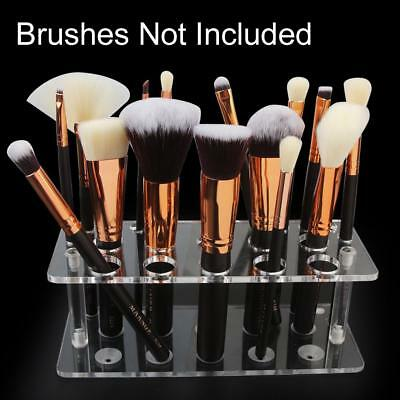 Acrylic Makeup Brush Holder Cosmetic Storage Stand Organizer Case Portable