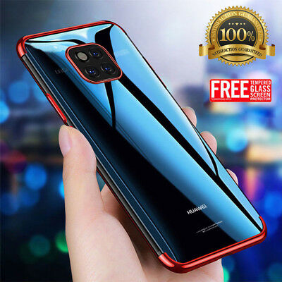 For Huawei Mate 20 Pro P20 Lite Case + Screen Protector Hybrid Shockproof Cover