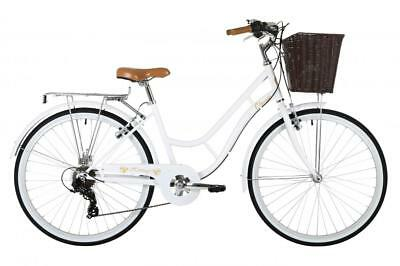"CLASSIC Heritage Ladies 26"" Wheel 7 Speed Traditional Bike Bicycle White"