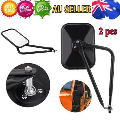 Wide Angle Flat Universal Car Truck Rear View Mirror For Jeep Wrangler TJ JK JKU