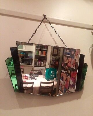 1920's Original Art Deco Dome Mirror