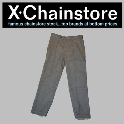 X Chain Store New School Trousers 7 to 8 Years Grey Top Quality