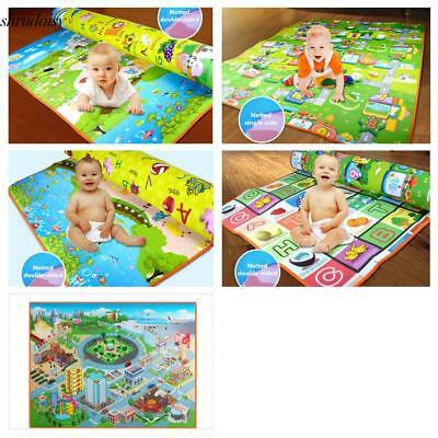 Baby Game Kids Play Mat Floor Rug Crawling Picnic Blanket S5DY