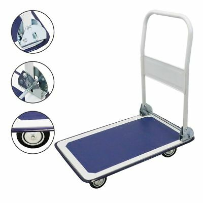330lbs Platform Cart Dolly Folding Foldable Moving Push Hand Truck Warehouse New