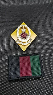 Free postage - Queen's Lancashire Regiment (QLR) Capbadge free TRF flash patch