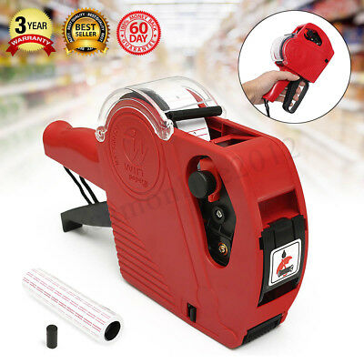 MX-5500 EOS 8 Digits Price Tag Gun Labeler +5000 White w/Red lines labels +1 Ink
