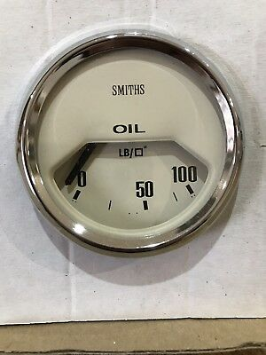 Smiths Electronic Oil Pressure Gauge 52mm - Magnolia. Triumph MG Mini Classic,