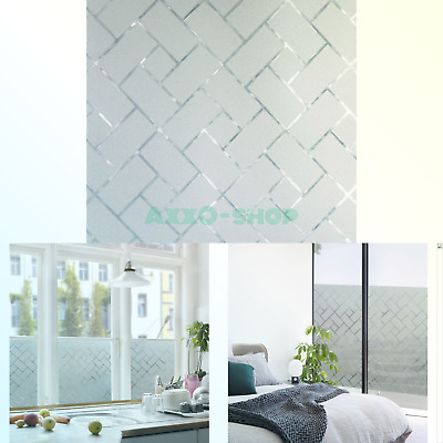 COAVAS NON-ADHESIVE WINDOW Film Stained Glass Window Film Static Frosted  Priv