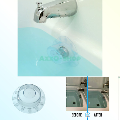 SlipX Solutions Bottomless Bath Overflow Drain Cover Adds Inches of Water to Tub