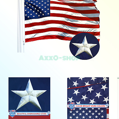 fad7aab2261 G128 - American USA US Flag 6x10 ft Embroidered Stars Sewn Stripes Brass  Grom.