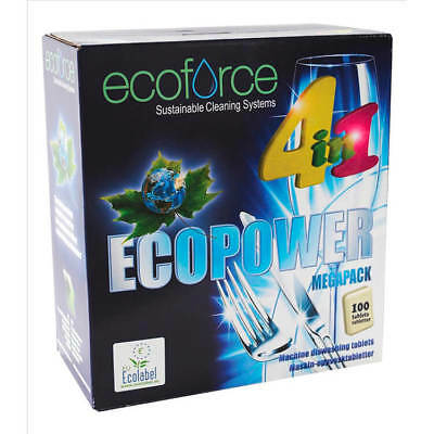 Ecoforce 4 in 1 Dishwasher Tablets 38018 Box 100