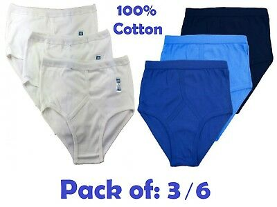 3,6,12 pairs Mens White 100/% Cotton Eyelet Y-Fronts-Airtex Breathable Mash S-3XL