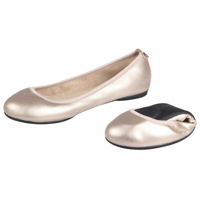 325d8879a4a8c9 NEW Butterfly Twists Sophia Rose Gold Ballerina Flat Foldable Womens Shoes  SZ 6M