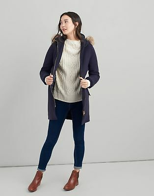 Joules Womens Wooldith Wool Parka in MARINE NAVY
