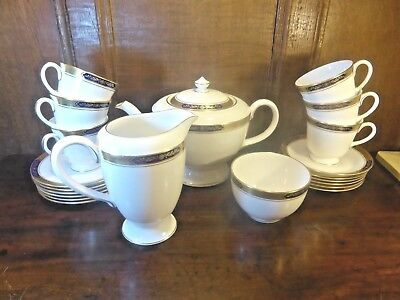 TOP QUALITY Royal Worcester SOVEREIGN 21 piece TEA SET/TEASET with TEAPOT