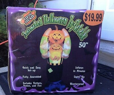 "Animated Halloween Inflatable 50"" Lifts Head. RARE!"