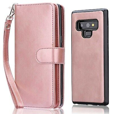 2-in-1 Wallet Case For Samsung Galaxy Note 8 Magnetic Flip Leather Cover Women