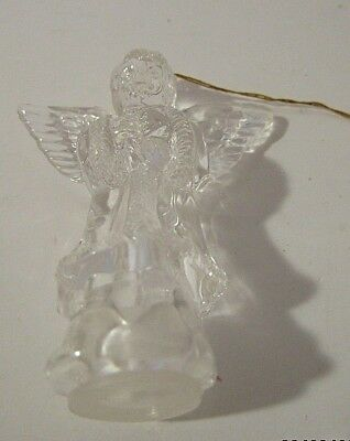 Vintage Clear Acrylic Christmas Angel Tree Ornament Tree Light Cover 2.5""