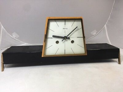 VINTAGE ART DECO HERMLE CHIMING MANTEL CLOCK GERMANY Mid Century Modern
