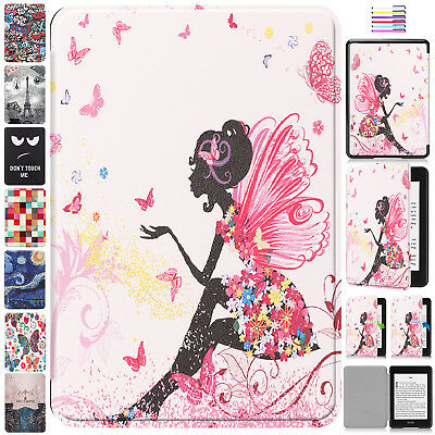 For Amazon Kindle Paperwhite 2018 Case Smart Pattern Magnetic Leather Full Cover