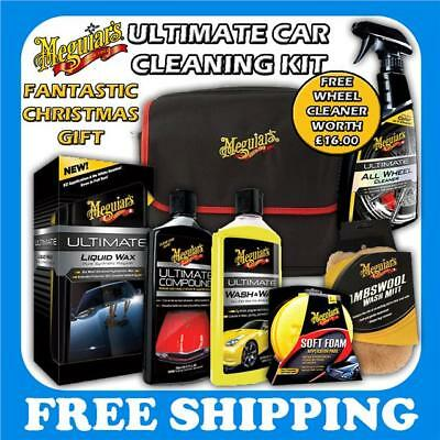 Meguiars Ultimate Cleaning Kit Compound, Wash & Wax Free Wheel Cleaner Gift Kit