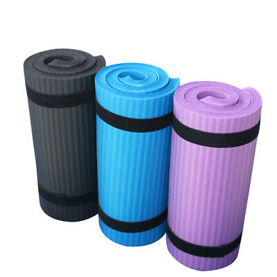 15mm NBR Exercise Yoga Pad Mat Non Slip Durable Pilates Fitness Gym Cushion