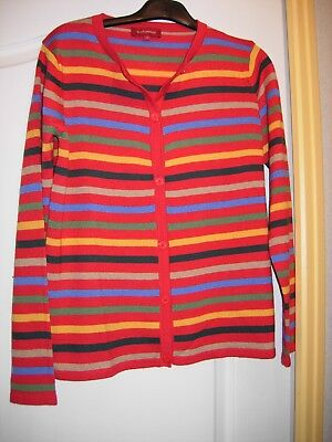 pull femme rayé dominante rouge