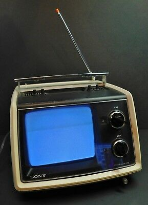 Vintage Sony TV-770 Black and White Portable Television