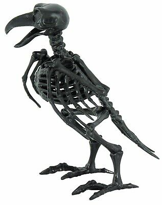 Skeleton Raven Bird Halloween Haunted House Prop Decoration Wings Moveable