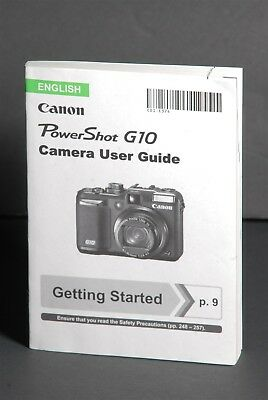 Canon PowerShot G10 Camera Instruction Book / Manual / User Guide
