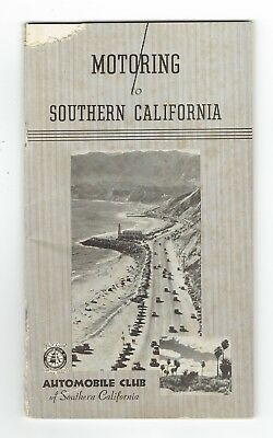 """Vintage 1930s Booklet """"Motoring to Southern California"""" Automobile Club of SoCal"""